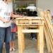 Utilisation de palettes pour fabriquer des bancs